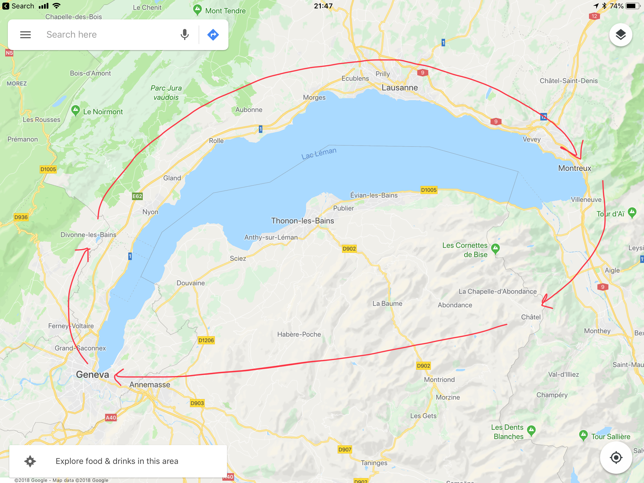 Our journey around Lake Geneva (or Lac Léman, as you might say)